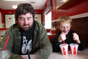 Papa Shane and Simon